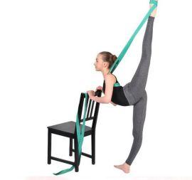 棉质环保瑜伽伸展带 女士瑜伽绳 拉力带 男士力量健身带 加长批发
