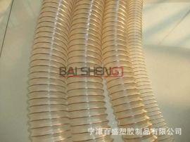陶瓷行业吸尘软管透明PU伸缩管耐磨管