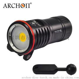 ARCHON奥瞳2016新款DM10 专业潜水摄影补光灯 大功率潜水手电筒 100米防水 充电 超强光LED 2700流明