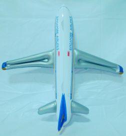 乐翔外贸充气产品 仿真航空飞机充气模型 定制飞机气模 儿童益智玩具
