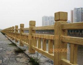 四川成都水泥仿木栏杆/护栏/栅栏-力达建材
