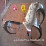 广东  彩色异型不锈钢展示柜  不锈钢黑金  柜加工定做