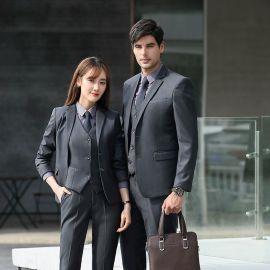 厂家西装定制订做量身正装销售领班工作服韩版修身商务西服套装男