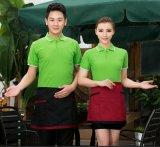 批發廣告促銷工作服短袖翻領polo衫 超市餐飲快餐服務員男女工裝