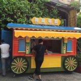 畅销旅游景点 可移动售货车 防腐木售卖车 木质亭子