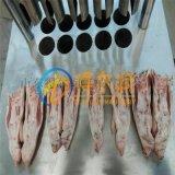 GFH连锁专用猪脚劈半机 不锈钢液压猪脚劈开机专供