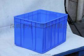 食品塑料周转箱品牌标准规格尺寸加厚带盖大号塑胶箱子