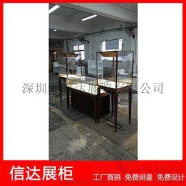 不锈钢立式珠宝柜台产品展示陈列柜台透明玻璃展示柜