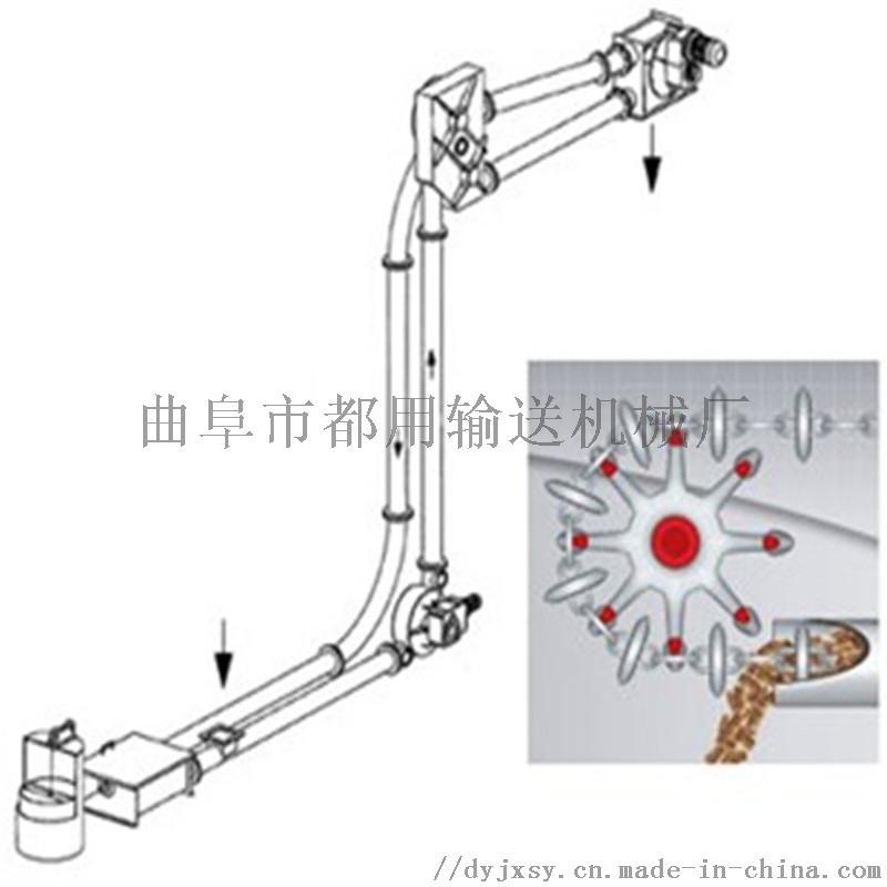 耐磨药粉输送机 拐弯管链提升机xy1