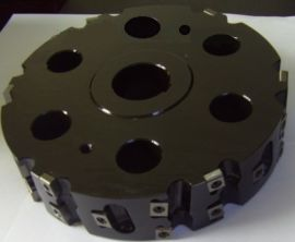 机夹成型铣刀盘可转位可调式刀片成型槽面加工的铣刀盘