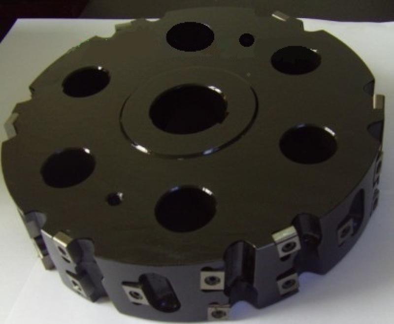 機夾成型銑刀盤可轉位可調式刀片成型槽面加工的銑刀盤