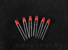 厂家直销 F3红光   亮红光led发光二极管 3MM插件灯珠