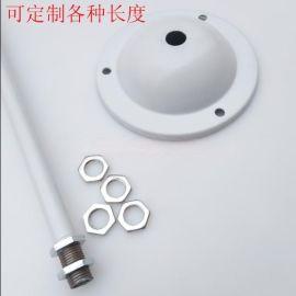 贵州灯具配件厂T8 双管荧光灯铁吊杆日光灯吊杆  单管荧光灯吊装杆