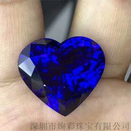 绚彩珠宝 海洋之心坦桑石裸石 可定制豪华项链 40.43克拉