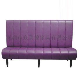 新款油蜡皮软包沙发卡座,餐厅卡座沙发,可做防火
