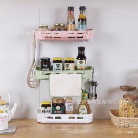 置物架不锈钢置物架挂壁式吸盘置物架浴室厨房收纳整理架**