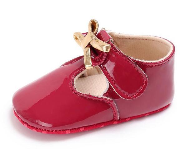 春夏秋冬款0-24个月软底 pu 公主鞋