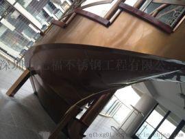 七福定制弧形不锈钢楼梯