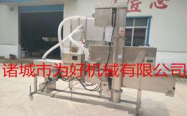 一字型网带雪花鸡柳裹粉上粉机设备厂家