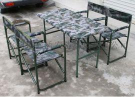 [鑫盾安防]折叠椅子,野战折叠桌椅 户外野战军绿折叠桌椅XD9