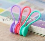 專業生產PVC軟膠耳機繞線器卡通造型理線器促銷新品