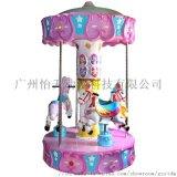 新款兒童遊樂設備三人轉馬旋轉機娛樂設備廠家直銷