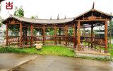 成都瑞森廊架厂家,公园防腐木廊架定制修建