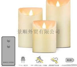 模擬搖擺蠟燭帶遙控led電子假蠟燭酒吧婚慶氛圍道具