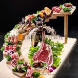 哈尔滨炭之家大片烤肉餐饮加盟一锅吃三国三盘分烤