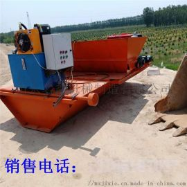 银川全自动现浇U型渠道成型机 混凝土水渠自动建造机