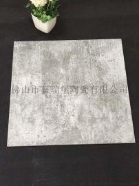 灰色水泥砖600*600卧室地板砖仿古砖工业风瓷砖