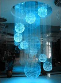 圆球立体光纤吊灯, LED七彩变色光纤灯, 进口三菱光纤吊灯