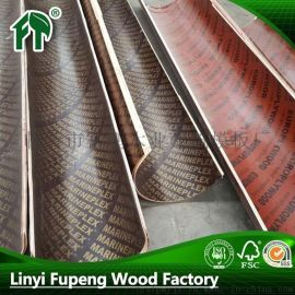 臨沂廠家批發直銷直徑30cm-100cm圓形圓柱木制建築模板覆膜板