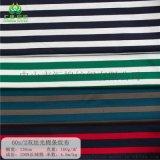 60s/2全棉双丝光棉色织条纹布