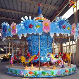 儿童旋转木马 公园转马 户外游乐设备厂家