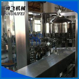 果汁饮料全自动瓶装三合一灌装机 矿泉水三合一灌装机