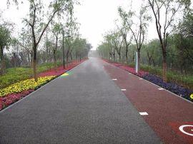 透水混凝土原料彩色透水混凝土地坪在园林市政道路建设中的推广应用
