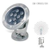 9瓦燧明LED防护IP67广场喷泉水底灯RGB不锈钢