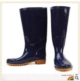 筱丹丹祥PVC中高筒男士雨靴 防滑防油污防酸碱劳保雨鞋