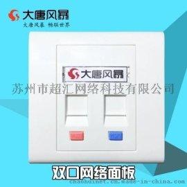 大唐风暴 MB10-2 网络模块 面板 电话 网络插座 双口 86