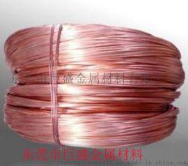 东莞巨盛专业生产红铜铆料线 汽车电池接线端子用红铜线 质量保证