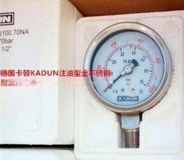 德国卡顿KADUN化工行业专用全不锈钢压力表系列直径40mm-250mm