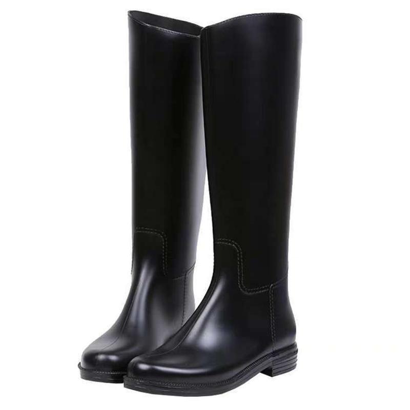 PVC女士时装靴防水靴时尚简约雨靴女鞋耐磨耐酸碱环保靴全新料