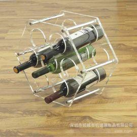 定做新款创意瓶装酒水亚克力展示架饮料红酒架亚克力展架定制加工