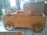 厂家定做防腐实木花箱 户外花车 花槽长方形花车 实木花车
