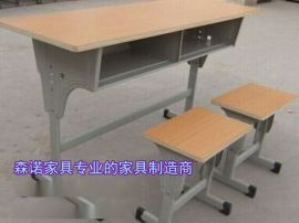 双人课桌椅价格 焦作可升降课桌椅 学生升降课桌现货出售