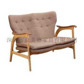 **众美德时尚沙发|实木沙发|咖啡厅沙发定制