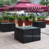 戶外傢俱(仿藤傢俱應用於商業廣場戶外桌椅)