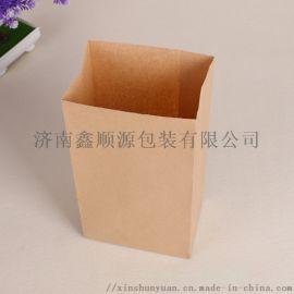 厂家直销定制牛皮纸袋 现货磅袋 方底纸袋子