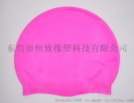 厂家供应 50g硅胶成人泳帽 游泳帽 男女通用